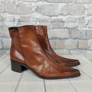 Arnold Churgin Leather Ankle Boots Western